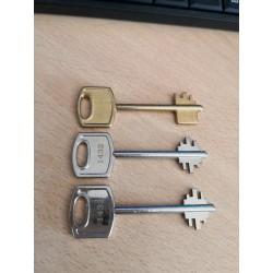 Copias de llaves juego completo Arregui (2 llaves + 1 emergencia) para cajas fuertes Arregui electrónicas con la numeración