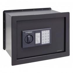 Caixa forta Arregui Class W-25EB electrònica per encastar. Color gris fosc.