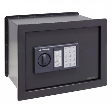 Caja fuerte Arregui Class W-25EB electrónica para empotrar. Color gris oscuro