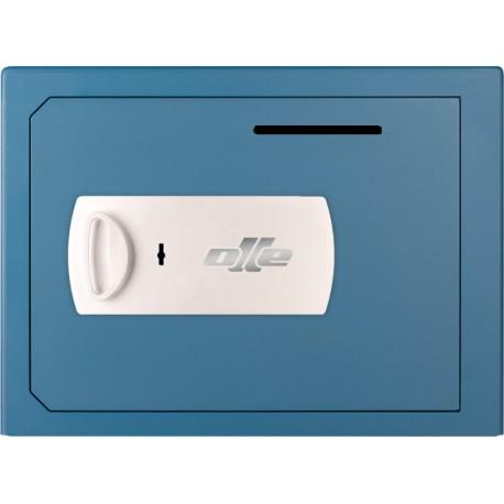 Caja fuerte con buzón Olle S802LL (con cerradura de llave) sobreponer. Ranura de ingreso en puerta.