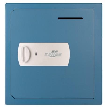 Caja fuerte con buzón Olle S803LL (con cerradura de llave) sobreponer. Ranura de ingreso en puerta.