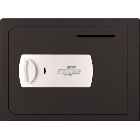 Caja fuerte con buzón Olle S1002LL (con cerradura de llave) sobreponer. Ranura de ingreso en puerta