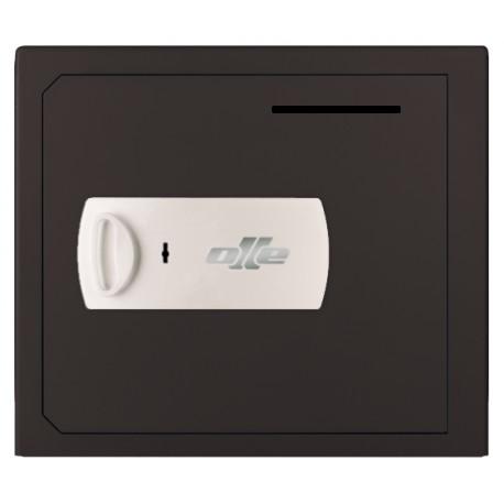 Caja fuerte Olle con buzón S1003LL (con cerradura de llave) sobreponer. Ranura de ingreso en puerta